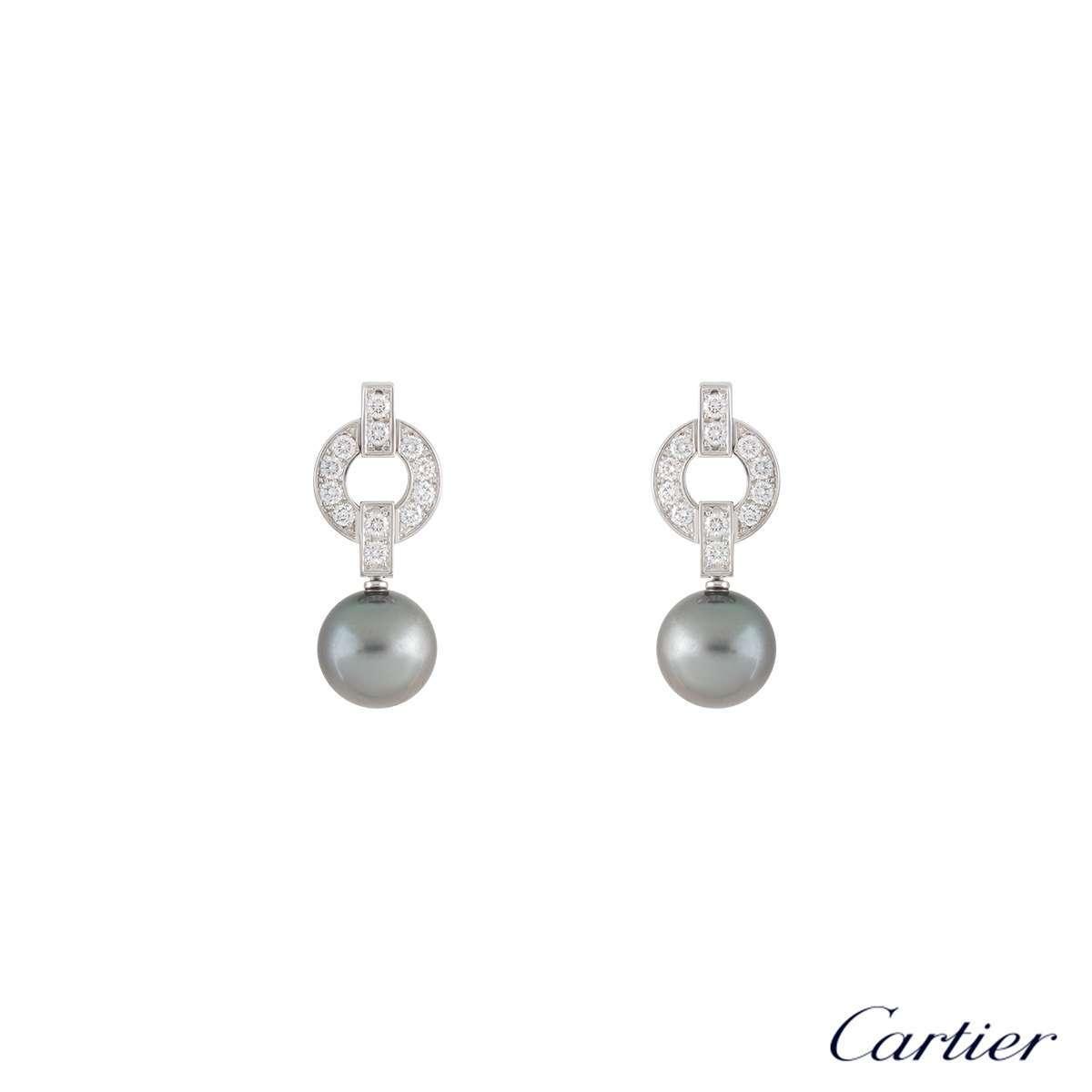 CartierHimaliaDiamond & Pearl EarringsB8039500